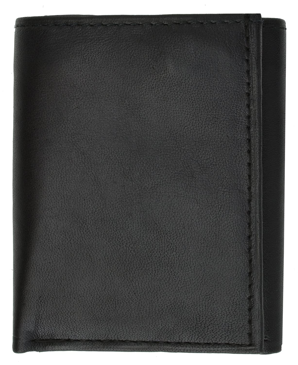 Trifold Center Flap Lambskin Leather Wallet with ID and Credit Card by Marshal