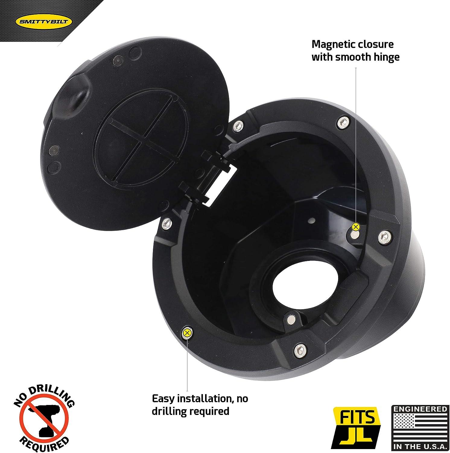 Smittybilt 75008 Billet Gas Cover for Jeep JL Wrangler