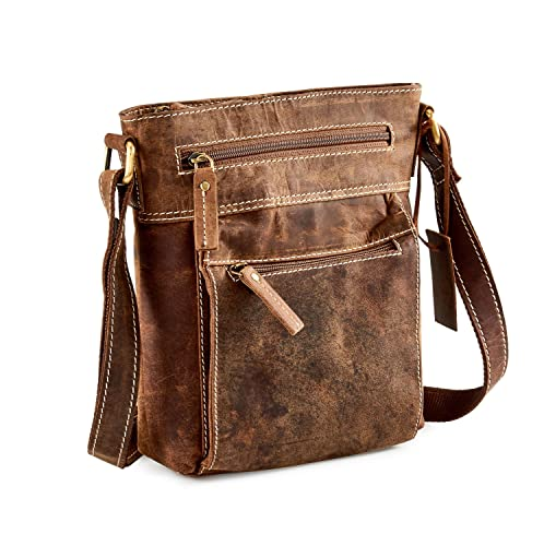 f9adabbece88 Distressed Leather Travel Cross-Body Bag - iPad mini tablet A5 UM63   Amazon.co.uk  Shoes   Bags