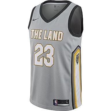 Nike NBA Cleveland Cavaliers Lebron James LBJ 23 2017 2018 City Edition Jersey Oficial, Camiseta de Hombre: Amazon.es: Ropa y accesorios