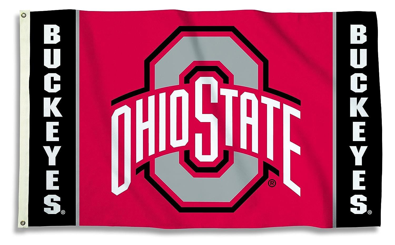 NCAA Ohio State Buckeyes Flag with Grommets 3 x 5 Feet Team Color