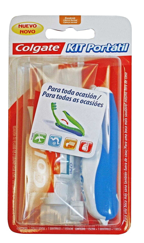 COLGATE kit viaje cepillo y crema dental: Amazon.es: Salud y cuidado personal