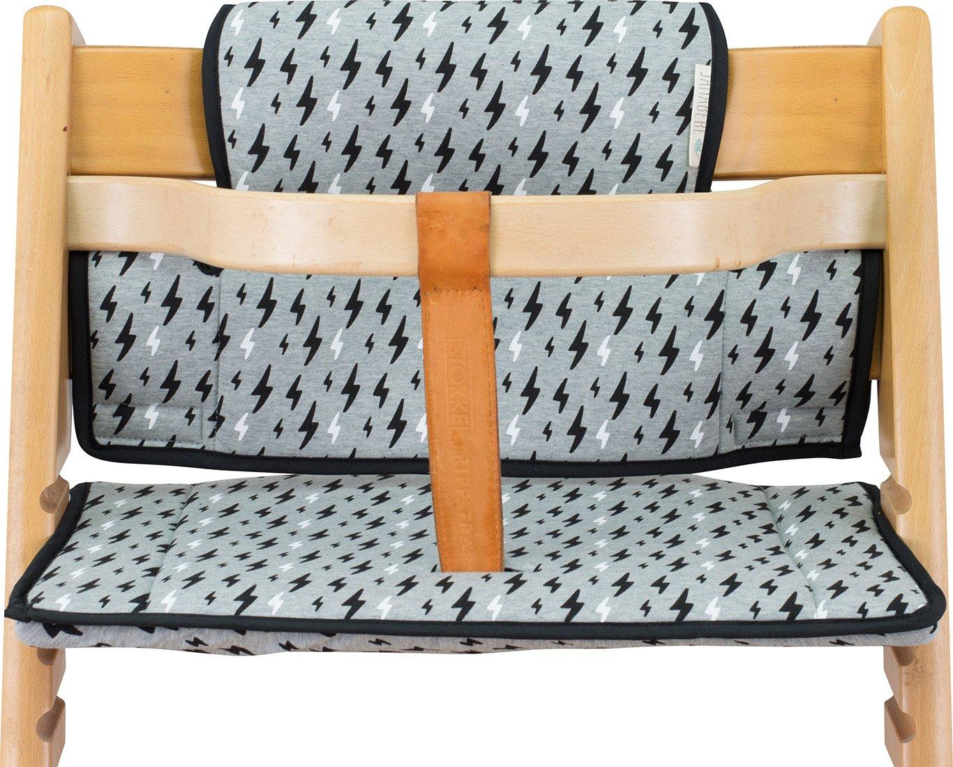 Cushion for high Chair Stokke Tripp Trapp by Janabebé (Black Rayo)