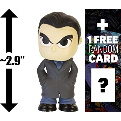 "Bruce Wayne: ~2.9"" Batman v Superman 'Dawn of Justice' x Funko Mystery Minis Vinyl Figure Series + 1 Free Official DC Trading Card Bundle [87388]: Toys & Games"