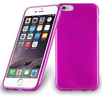 Cadorabo de de 104834 Apple iPhone 6/iPhone 6S (4.7) Funda Carcasa de TPU Silicona en Aspecto Acero Inoxidable Cepillado (Pulido), Color Rosa