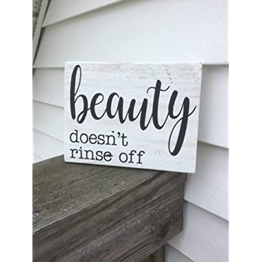 Olga212Patrick Beauty Doesnt Rinse Off Pallet Sign Plaque