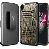"Idol 3 Case, NageBee [Heavy Duty] Armor Shock Proof Dual Layer [Swivel Belt Clip] Holster with [Kickstand] Combo Rugged Case for Alcatel OneTouch IDOL 3 (5.5"") - Camouflage"