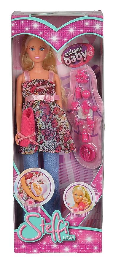wholesale sales 100% authentic pretty nice Simba - 105734000 - Steffi Love - Poupée et Mini Poupée - Steffi Blonde  Enceinte