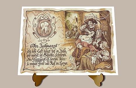 Geschenk Zahnarzt neu Dentist Zeichnung Color 20 x 15 cm