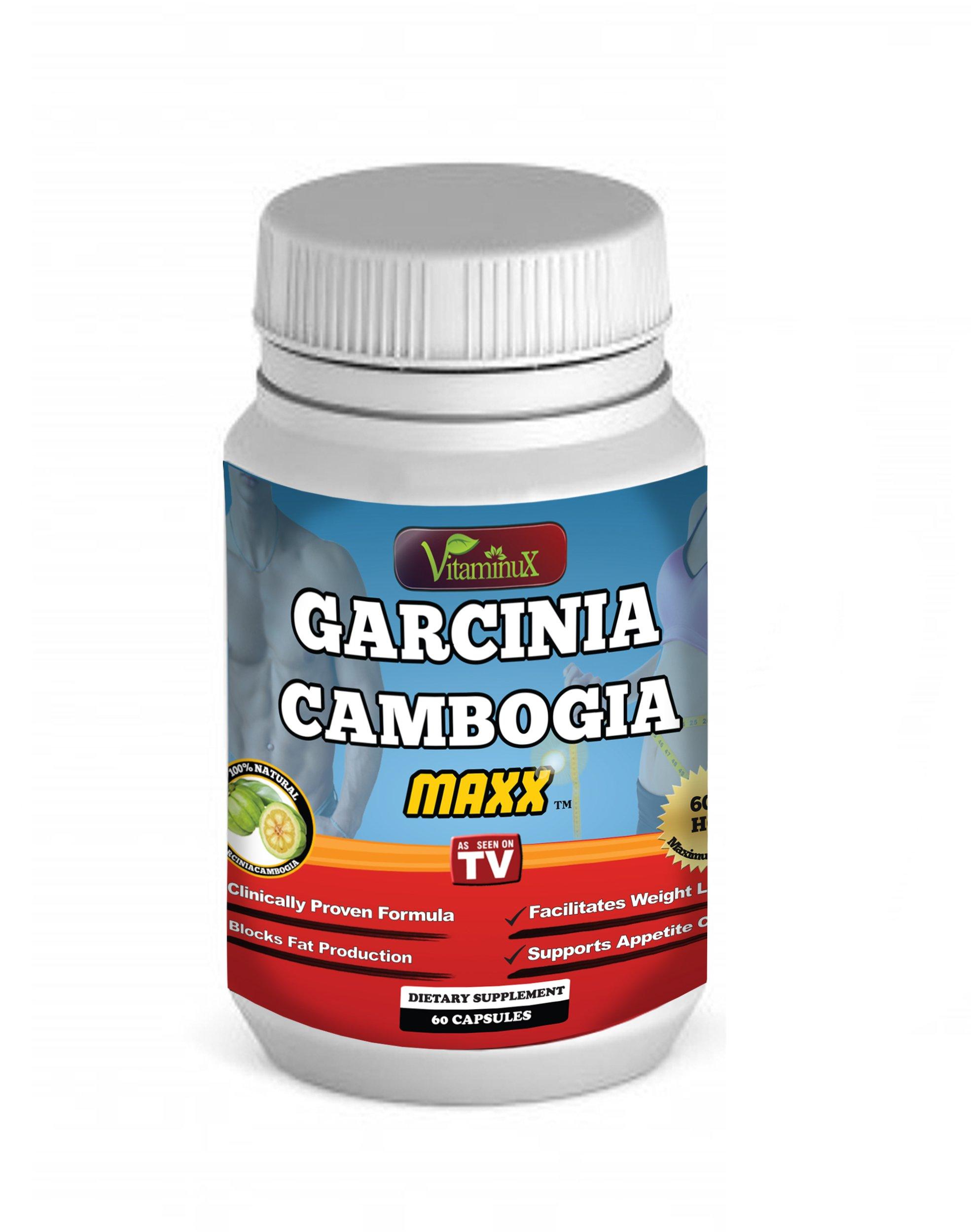 Garcinia Cambogia - Ultra Pure 60% HCA Fruit Extract with Potassium, Chromium & Calcium - Natural Appetite Suppressant Clinical Strength Premium Weight Loss Dietary Supplement Capsules