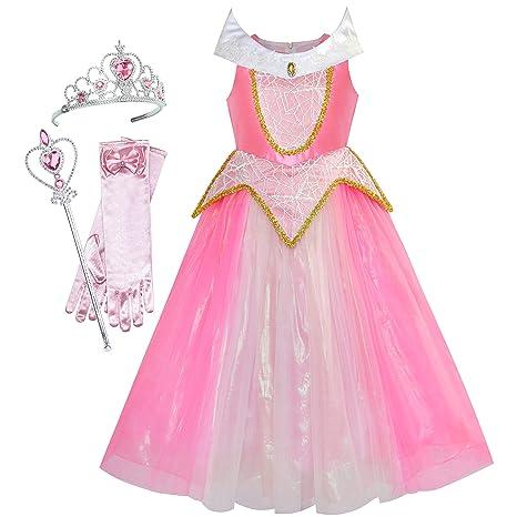 98ccb6a27 Sunny Fashion Princesa Aurora Disfraz Gavanza Accesorios Corona Varita  mágica 10 años