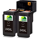 JARBO Compatible Ink Cartridge Replacement for Canon PG-245XL 245 XL PG-243 243 Black Ink Cartridge, 2 Black, for Canon PIXMA MG2520 MG2920 MG2922 MG2924 MG2420 MG2522 MG2525 MG3020 MG2555 MX490 MX492