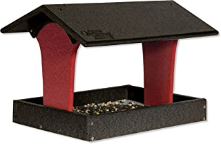 product image for DutchCrafters Fly-by Poly Bird Feeder (Black & Bright Red, Mount Style - Hanging)