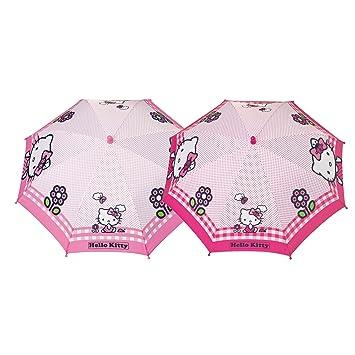 PERLETTI perletti75232 42 x 8 cm niña Hello Kitty 2 impreso seguridad abierto paraguas a prueba