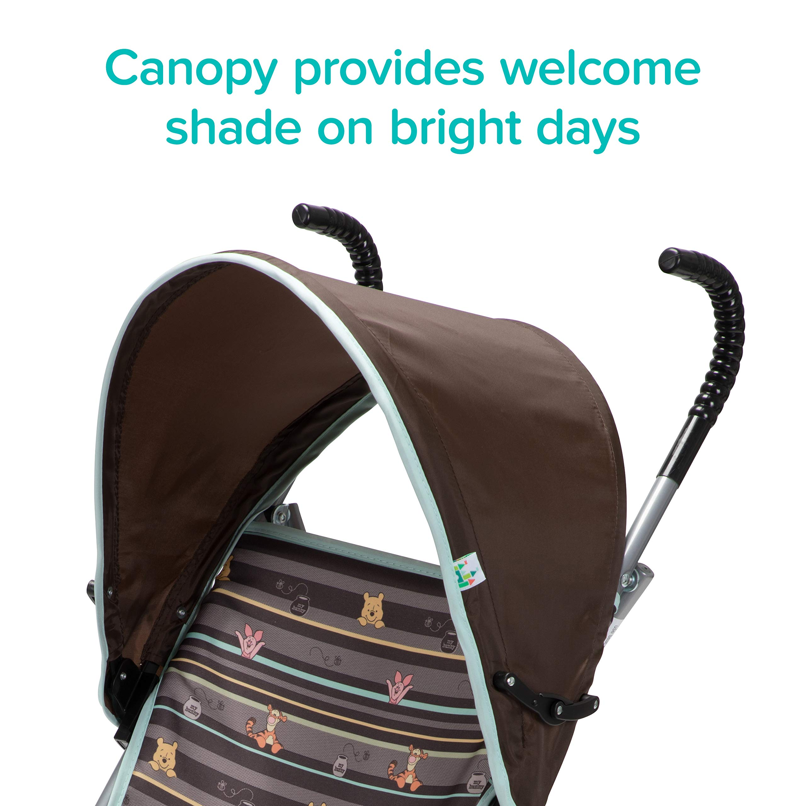 Disney Baby Winnie-the-Pooh Umbrella Stroller with Canopy (My Hunny Stripes) by Disney (Image #3)