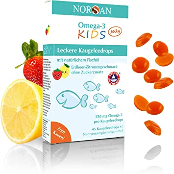 Norsan Omega 3 Kids Jelly For Chewing I Fruity Chewing Jelly Drops With Omega 3 And Vitamin D3 For Children I Pack Of 45 120 Pieces Amazon De Drogerie Korperpflege