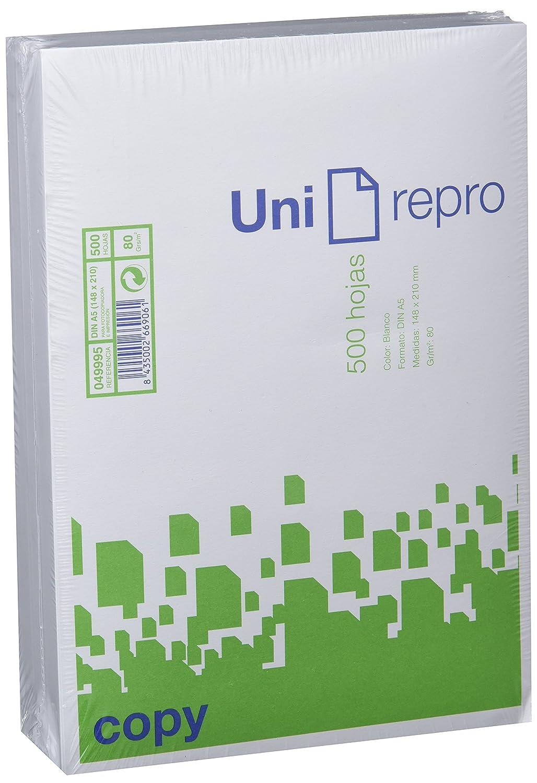 Unirepro 49995 Foglio A5, 500 Pezzi