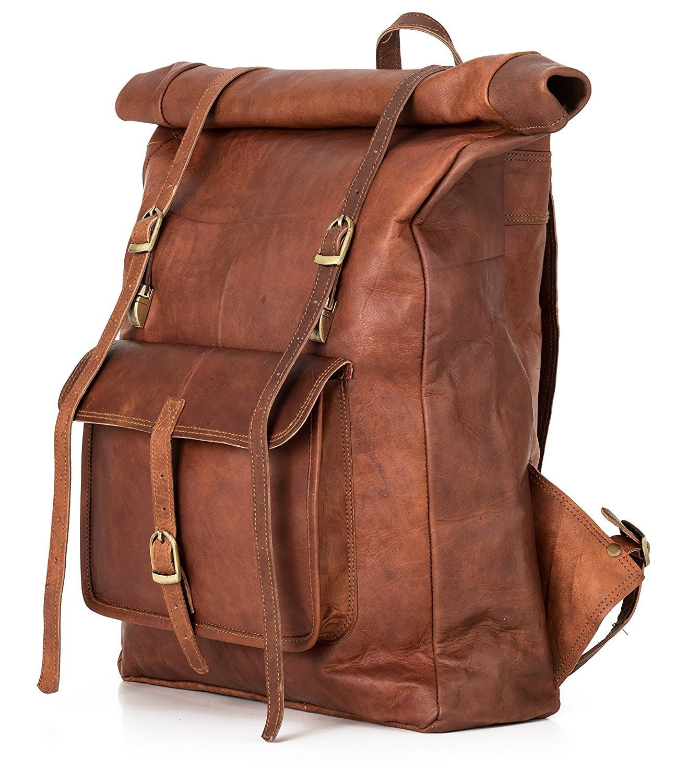 50b38bf47984 Original Leather Classy Bags  Retro Vintage Dapper Sailor Rucksack Backpack  Bag Bags For Men Women Boys Girls Male Female Branded For ...