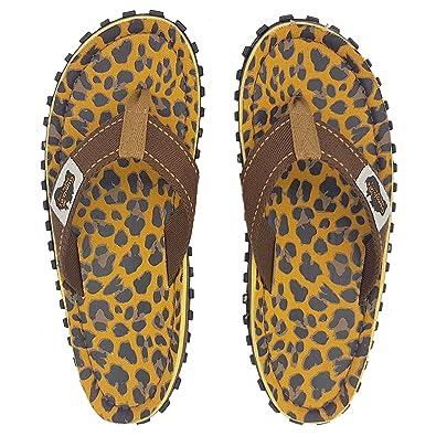 3138f362280e Gumbies - Islander Canvas Flip-Flops - Leopard  Amazon.co.uk  Shoes   Bags