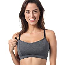 69ef059b0a552 Loving Moments by Leading Lady Women s Nursing Sports Bra  Gratlin Women s  Lightly Padded Wireless Racerback Sports Maternity Nursing Bra