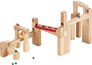 HABA Ball Track Large Basic Set - 42 Piece Wooden Marble Run for Beginner to Expert Architects Ages 3 to 10 (Made in Germany)