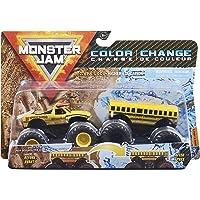 Monster Jam 6061976 Official El Toro Loco vs. Higher Education Color-Changing Die-Cast Monster Trucks, 1:64 Scale