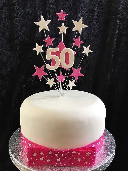 Karens Cake Toppers Decoración para Tarta de 50 cumpleaños ...