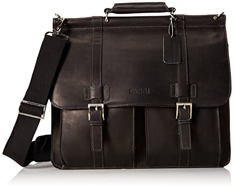 df4ecb81ec46 Kenneth Cole Reaction Columbian Leather Dowel Rod Computer Briefcase