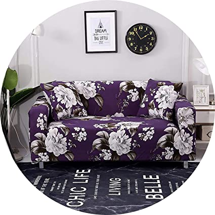Amazon.com: Little-Kiwi Floral Leaves Printing Sofa Cover ...