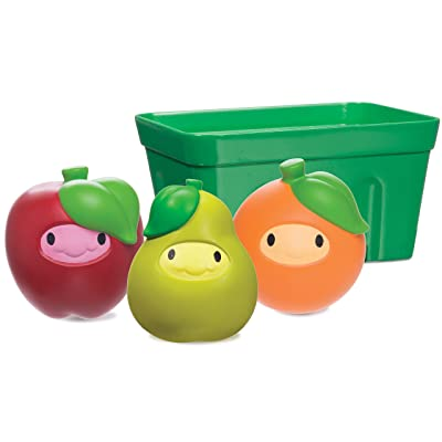 Munchkin Squirtin' Strain Fruit Basket Bath Toy, Apple/Pear/Orange : Baby
