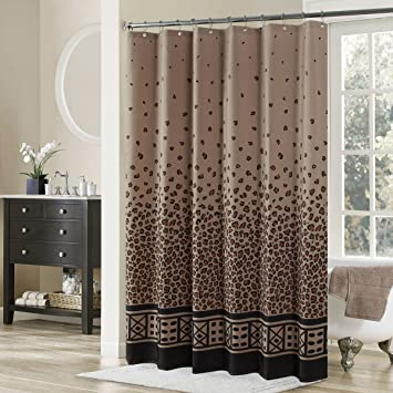 DS BATH Leopard Shower CurtainBlack Fabric CurtainVintage Curtains For Bathroom