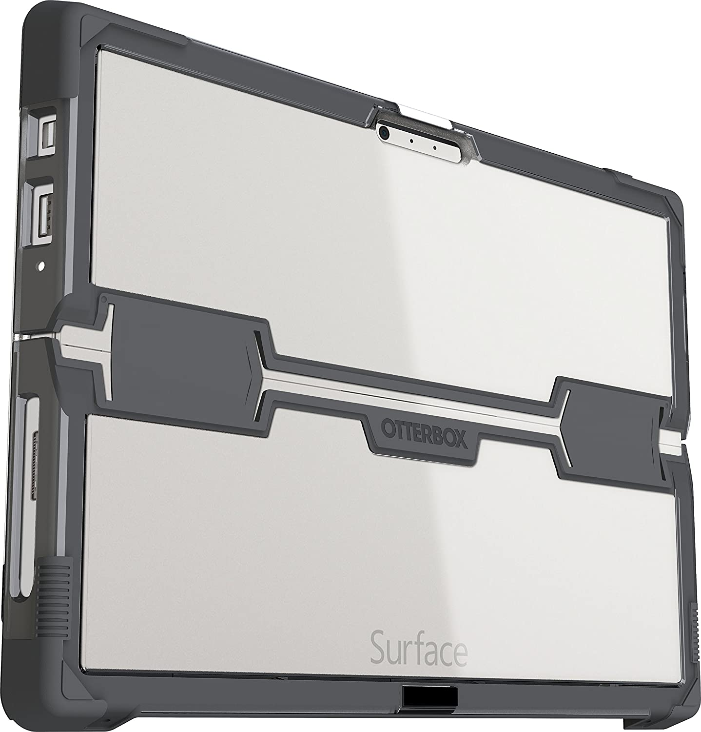 online store 2596b 4544e OtterBox SYMMETRY SERIES for Microsoft Surface Pro 3 - Retail Packaging -  SLATE (CLEAR/SLATE GREY)