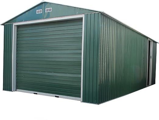Duramax 50961 Metal garaje cobertizo con puerta lateral, 12 por 20 ...