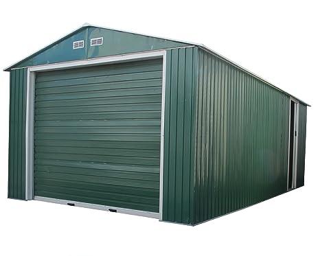 Duramax 50961 Metal garaje cobertizo con puerta lateral, 12 por 20-Feet