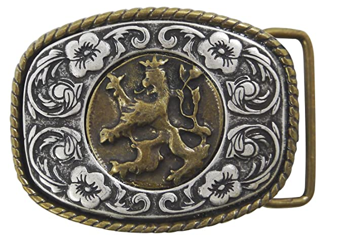 """FRONHOFER Oktoberfest buckle brass buckle Bavarian coat of arms 1.5/""""//4cm"""