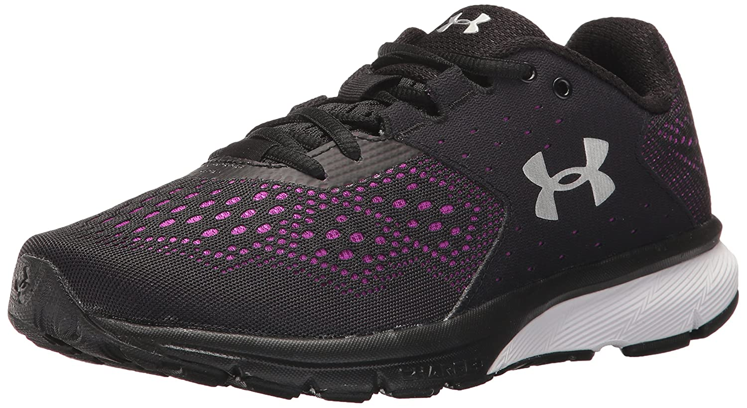 Under Armour Women's Charged Rebel Running Shoe B01NBJS7WZ 7 M US|Black (004)/Purple Rave