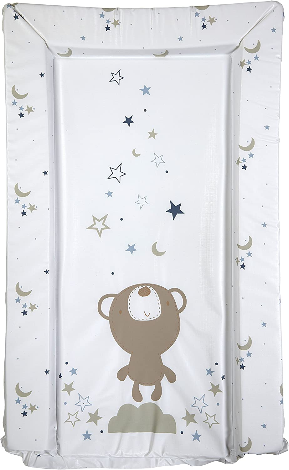 Bed-e-Byes Changing Mats Uniquely Designed Easy Wipe Clean a Perfect Grey Stars Deluxe Waterproof with Raised Padded Edges Practical Addition to Your Nursery L80 x W46cm