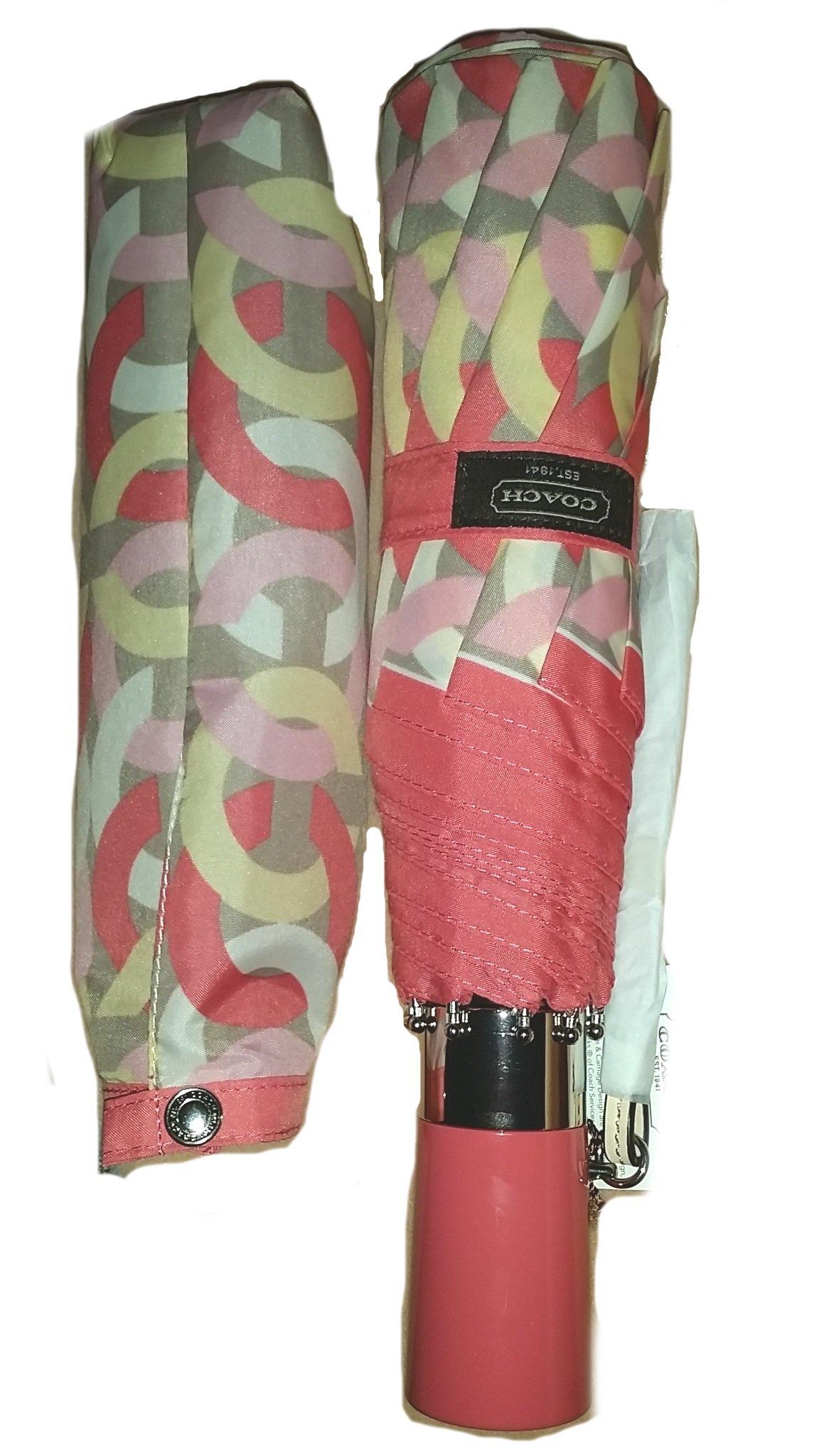 COACH Kristin Chain Link Umbrella - Silver/Multi - 64042
