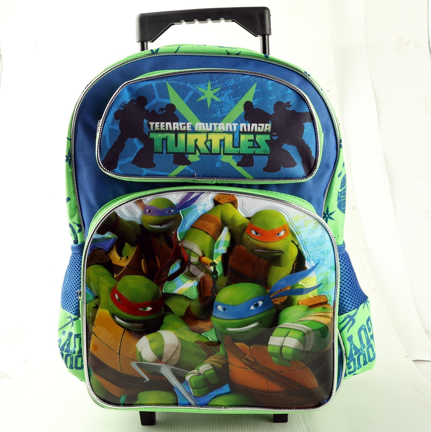 amazoncom nickelodeon teenage mutant ninja turtles 16 large rolling backpack sports outdoors - Cartable Tortue Ninja