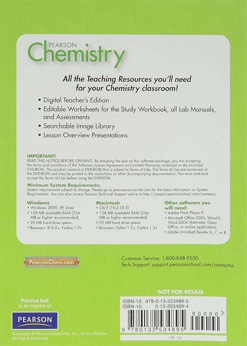 Amazon.com: CHEMISTRY 2012 CLASSROOM RESOURCE DVD: PRENTICE HALL ...
