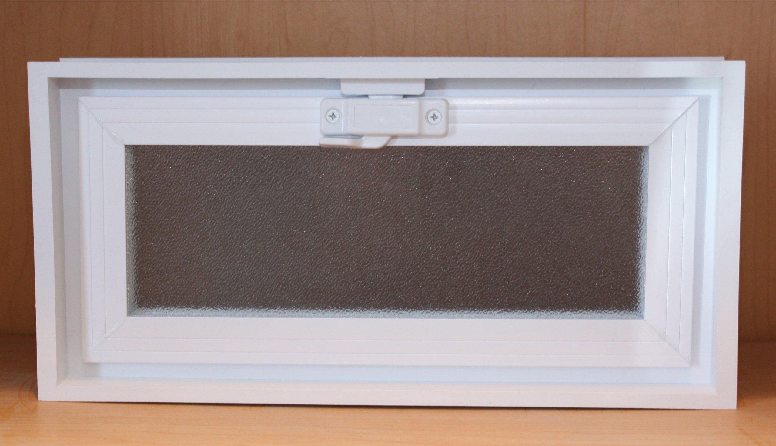 Quality Glass Block 16 x 8 x 3 White Glass Block Vents