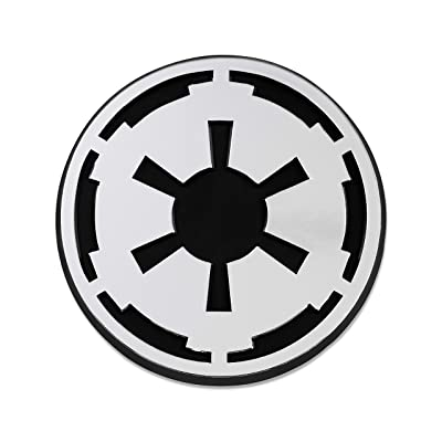 "SW Imperial Galactic Empire Logo Plastic Auto Emblem - [Silver][3"" x 3""]: Automotive"