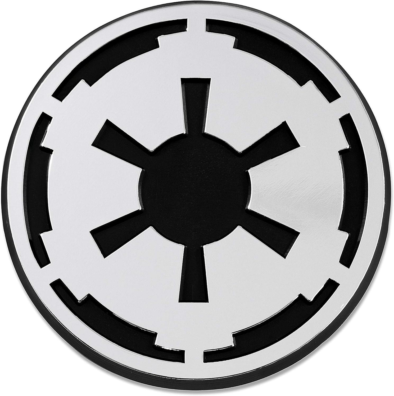 SW Imperial Galactic Empire Logo Plastic Auto Emblem - [Silver][3'' x 3'']