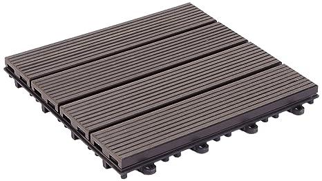 Gapa florco wpc piastrelle per pavimenti esterni con sistema