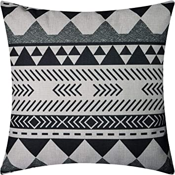 Amazon.com: NATURALSHOW - Funda de cojín de lino y algodón ...