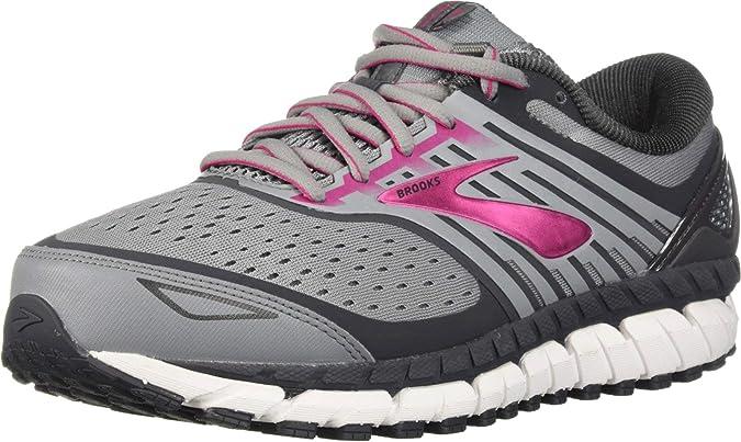 Brooks Ariel 18 2E Extra Wide Grey Green Women Running Shoes Sneakers 120271 2E