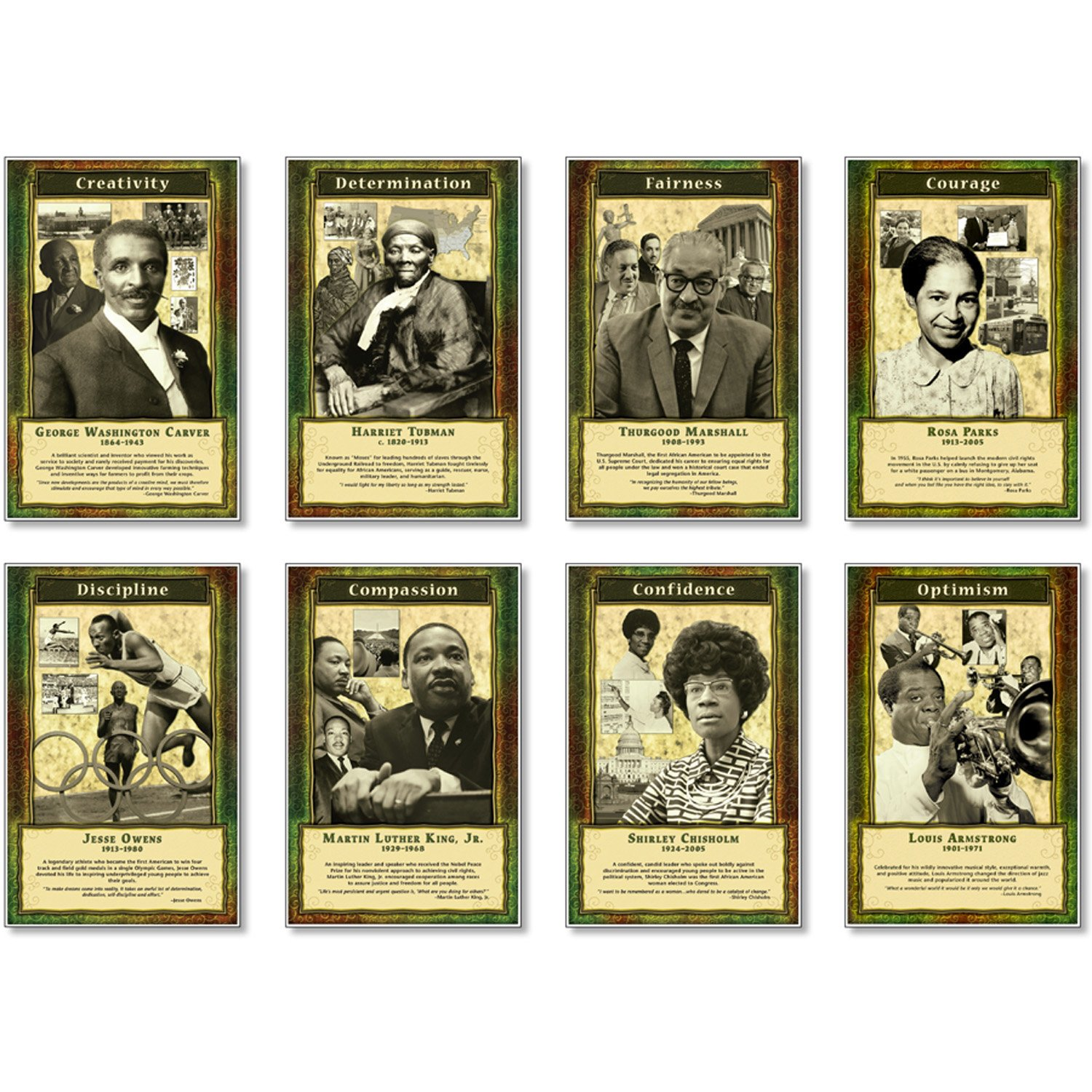 North Star Teacher Resource NST3056 Leaders and Achievers Bulletin Board Set, Set of 8 Posters