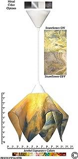 product image for Jezebel Signature Flame Pendant Large. Hardware: White. Glass: Strawflower