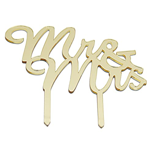 gold monogram wedding cake topper mr mrs golden monogrammed silhouette acrylic topper for anniversary