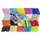 [Bouton Pression] Luxebell Bouton Pression Plastique T5 12mm Kit Boutons Ronds Bricolage en Plastique Artisanat (300pcs avec des Pinces)